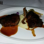 Filet Mignon, Short ribs, Parsnip mash