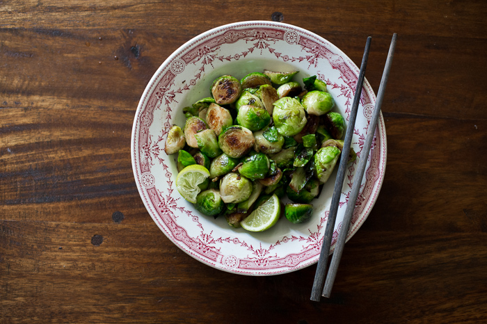 Pan Roasted Brussels Sprouts Recipe with Fish Sauce